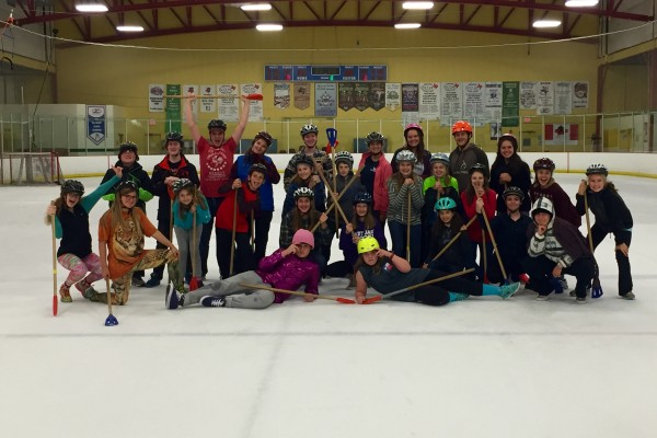 Broomball: An evening of running around on the ice.